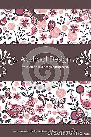Fond abstrait floral 1-5