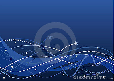 Fond abstrait - étoiles et ondes