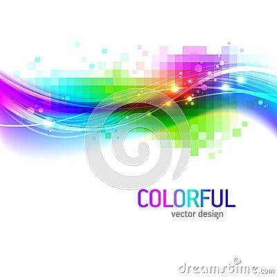 Fond avec l onde colorée