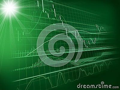 Fond avec le diagramme de devise