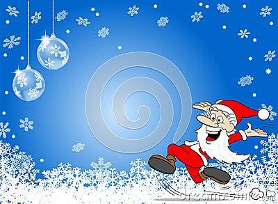 fond-bleu-abstrait-de-flocon-de-neige-avec-une-bande-dessin%C3%A9e-le-p%C3%A8re-no%C3%ABl-59875542.jpg