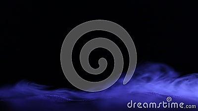 Fond bleu abstrait de fumée de glace carbonique clips vidéos