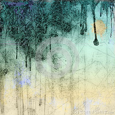 Fond bleu grunge d égoutture