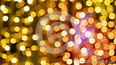 Fond chaud brouillé de bokeh de lumières de Noël avec le gradient clips vidéos