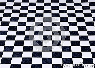 Fond Checkered de marbre