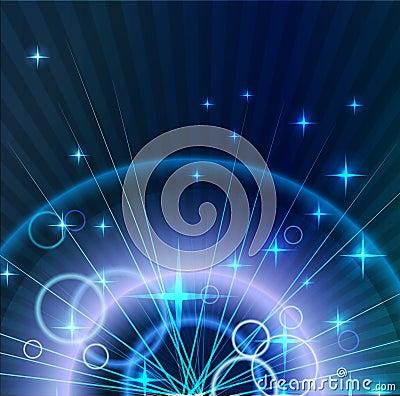 Fond clair abstrait avec des cercles