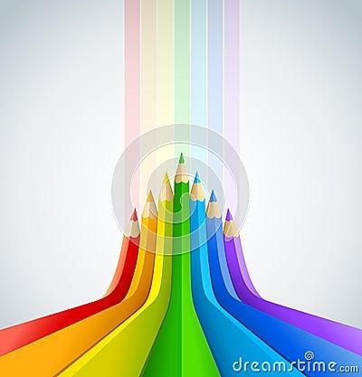 Fond d art abstrait avec des crayons de couleur image stock image