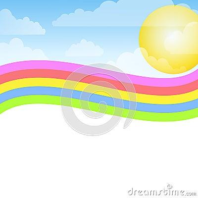 fond-de-ciel-bleu-d-arc-en-ciel-de-swoosh-thumb4750218