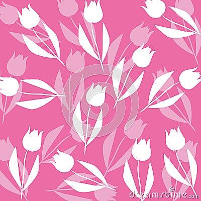 Fond de configuration de tulipe
