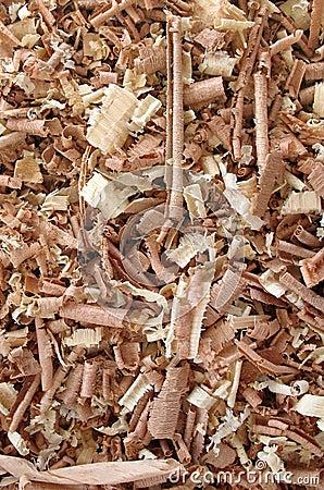 Fond de copeaux en bois