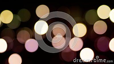 Fond de gradient avec des cercles de bokeh Pan Left vers la droite banque de vidéos
