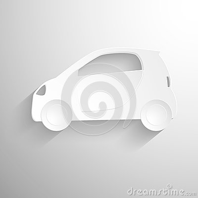 fond de papier de coupe circuit ic ne blanche de signe de voiture illustration stock image. Black Bedroom Furniture Sets. Home Design Ideas