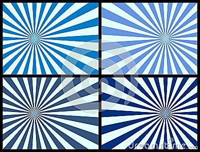Fond de rayons [bleu]