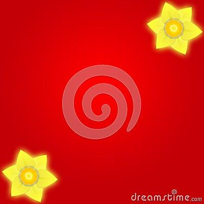 Fond de rouge de jonquille