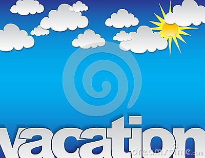 Fond de vacances