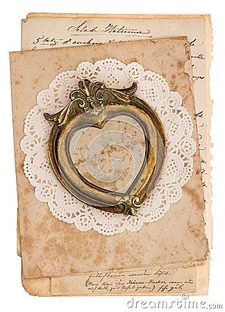 fond de vintage avec de vieilles cartes postales manuscrites photo stock image 38813768. Black Bedroom Furniture Sets. Home Design Ideas