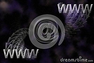 Fond de WWW et d email.