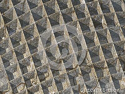Fond en pierre de gaufre