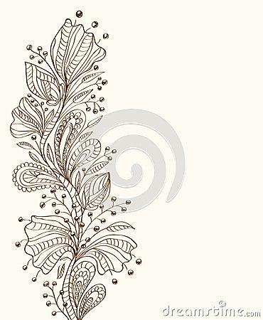 Fond floral élégant
