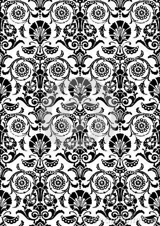 fond floral abstrait noir et blanc de mod le illustration de vecteur image 53225298. Black Bedroom Furniture Sets. Home Design Ideas