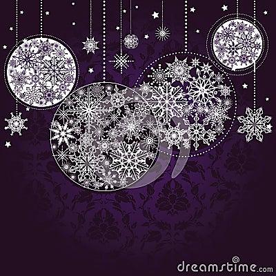 Fond lilas de Noël