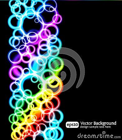Fond lumineux de bleu des effets de la lumière Eps10