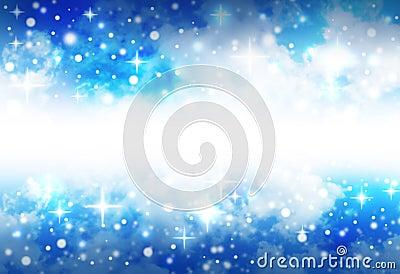 Fond lumineux de l espace d étoile avec des étincelles