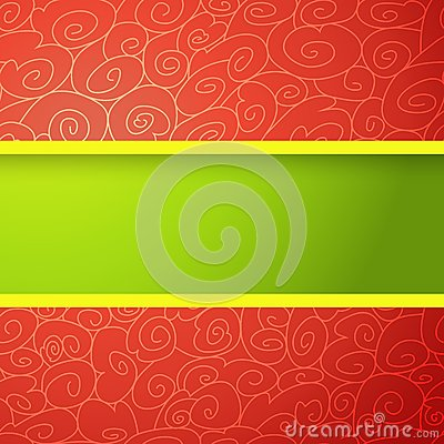 Fond lumineux rouge et vert