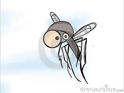 Fond mignon de blanc de film de vol de moustique banque de vidéos