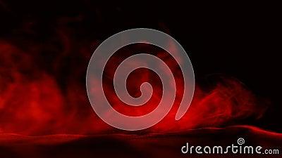 Fond rouge abstrait de fumée de glace carbonique clips vidéos