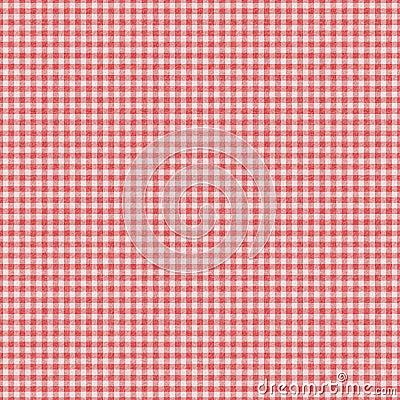 Fond sans joint contrôlé rouge de plaid de guingan