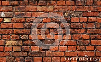 Fond sans joint : mur de briques