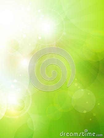 Fond vert abstrait de bokeh