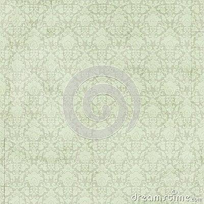 Fond vert chic minable de damassé de vintage