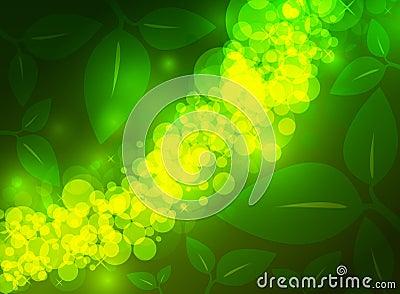 Fond vert de jungle