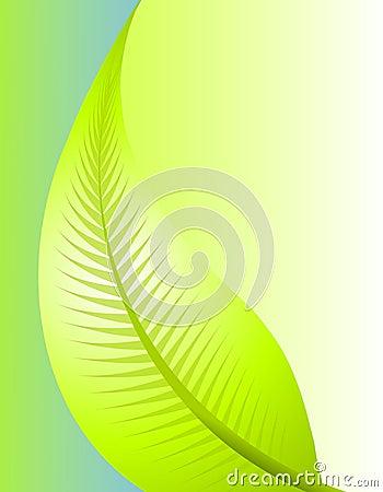 Fond vert de nature de lame