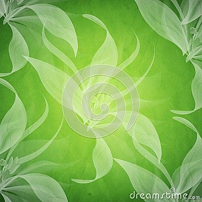 fond vert sale de ressort avec le motif floral illustration stock image 50338282. Black Bedroom Furniture Sets. Home Design Ideas