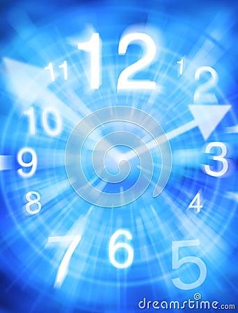 Fondo abstracto del tiempo
