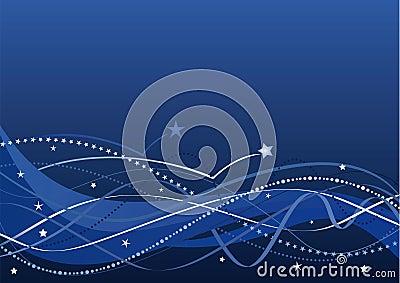 Fondo abstracto - estrellas y ondas