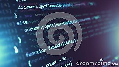 Fondo abstracto programado del código fuente metrajes
