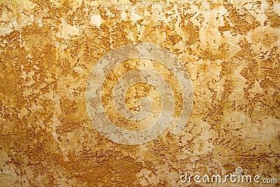 Fondo amarillo ocre del grunge de la textura de la pared