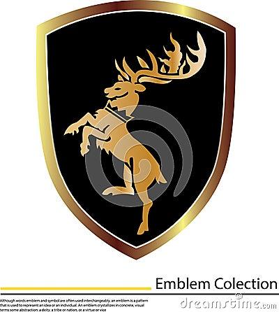 Fondo artístico con el escudo de oro