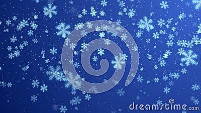Fondo blu di inverno royalty illustrazione gratis