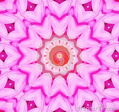 Fondo caleidoscópico de la flor