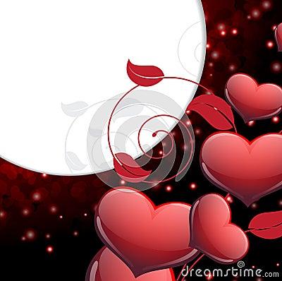 Fondo chispeante del día de tarjetas del día de San Valentín.