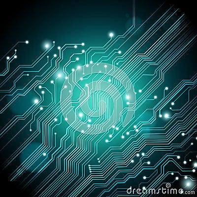 Fondo de alta tecnología - el vector está disponible
