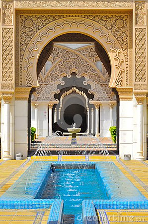 Fondo de la arquitectura islámica del detalle