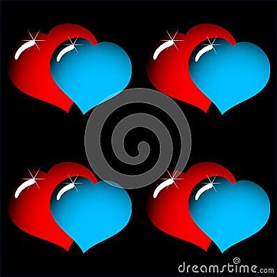 Fondo de la elegancia del extracto del día de tarjeta del día de San Valentín