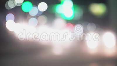 Fondo de la falta de definici?n de la ciudad Extracto Defocused de la calle de Nueva York de las luces almacen de video