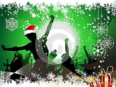 Fondo de la fiesta de Navidad